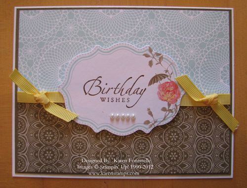Attic Boutique Side Note Birthday Card