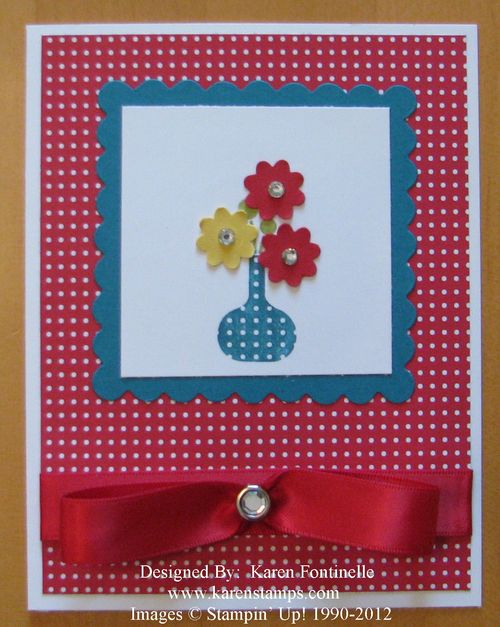 Summer Smooches Bright Blossoms Card