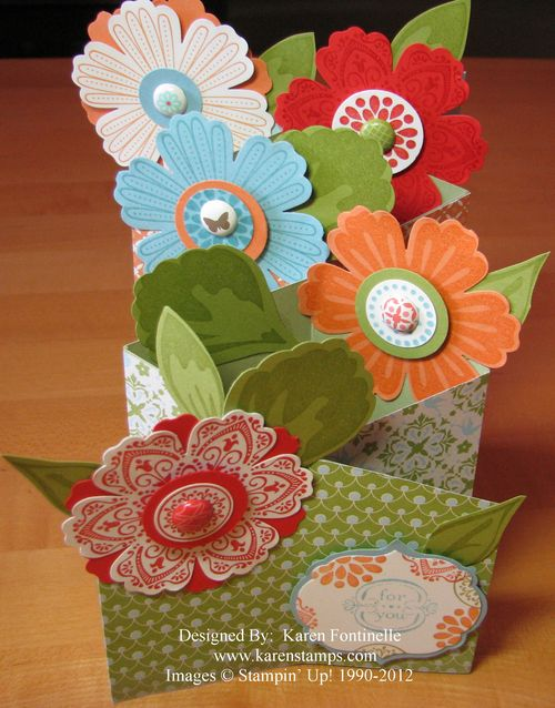Mother's Day Cascade Mixed Bunch Flower Card