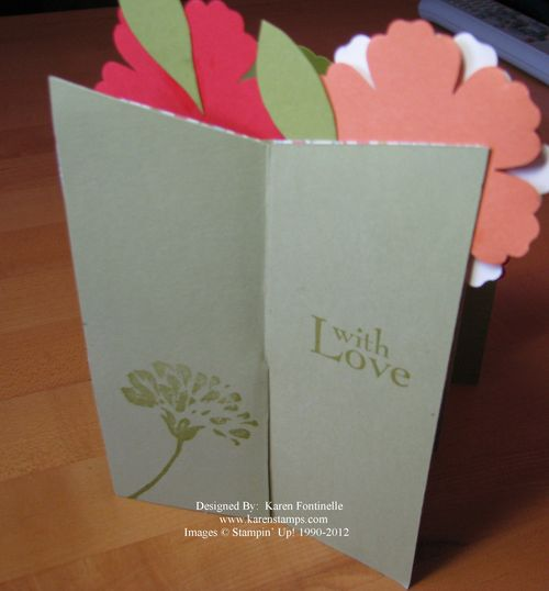 Mother's Day Cascade Flower Card