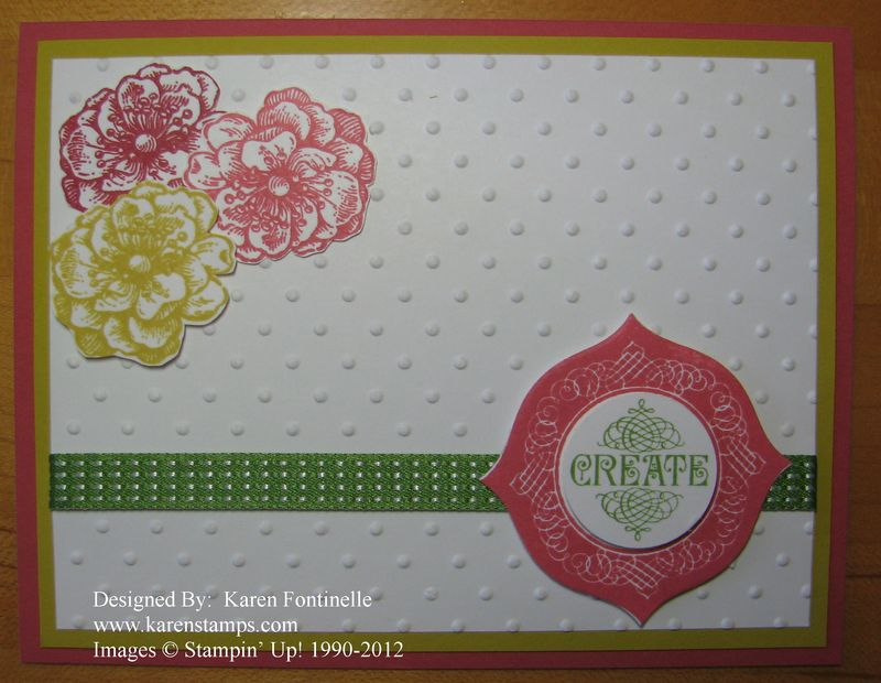 Flowers and Create Card