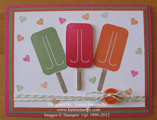 Mouthwatering Popsicle First Day of Summer Card