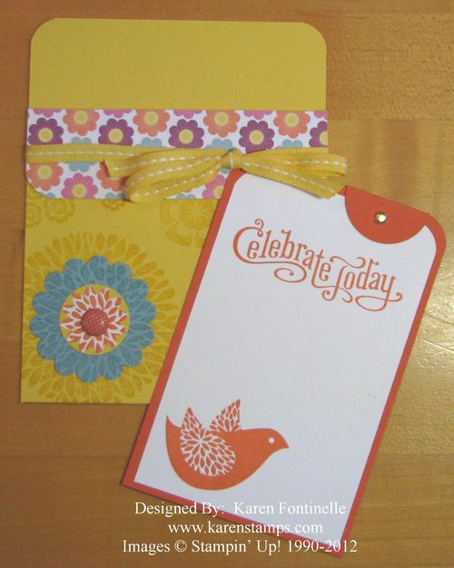 Betsy's Blossoms Pocket Card and Insert