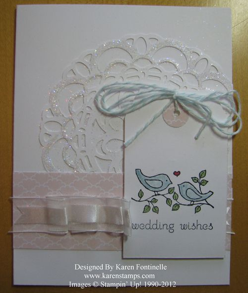 Easy Events Wedding Doily Card
