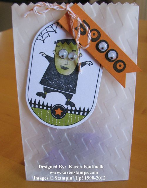 Ghoulish Googlies Frankenstein Halloween Treat Bags