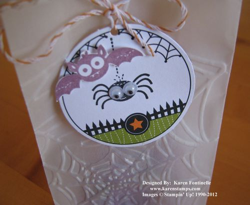 Ghoulish Googlies Spider and Bat Halloween Treat Bag