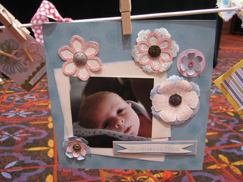 Loving Thoughts and Mixed Bunch Baby Scrapbook Page