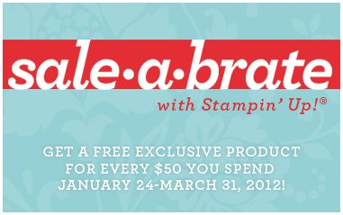 Sale-A-Bration with Stampin' Up!