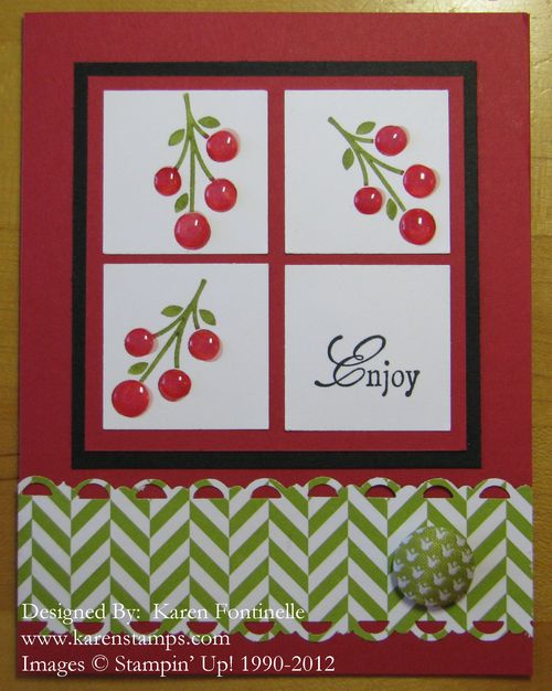 Summer Smooches Cherries Card