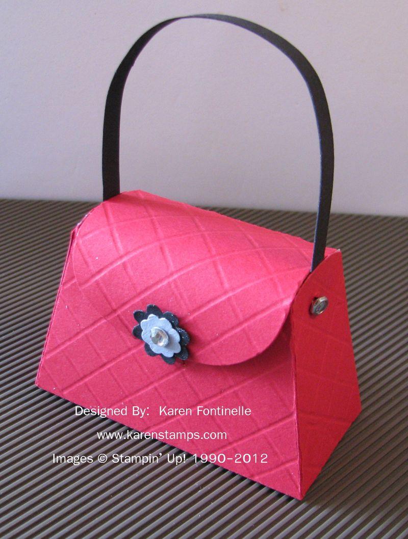 Petite Purse Die Scored Design | Stamping With Karen