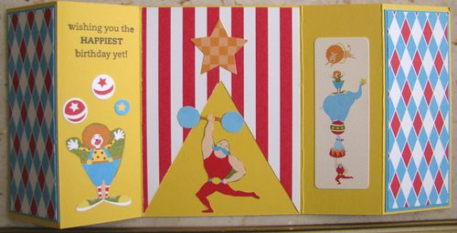 Circus Gate Fold Card Inside