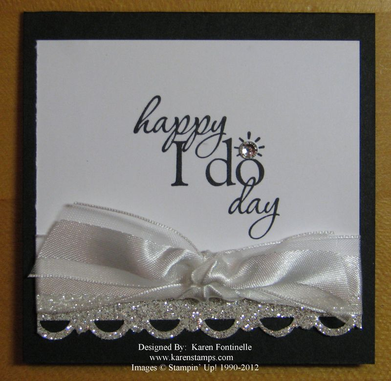 Wedding 3×3 Gift Card  Stamping With Karen