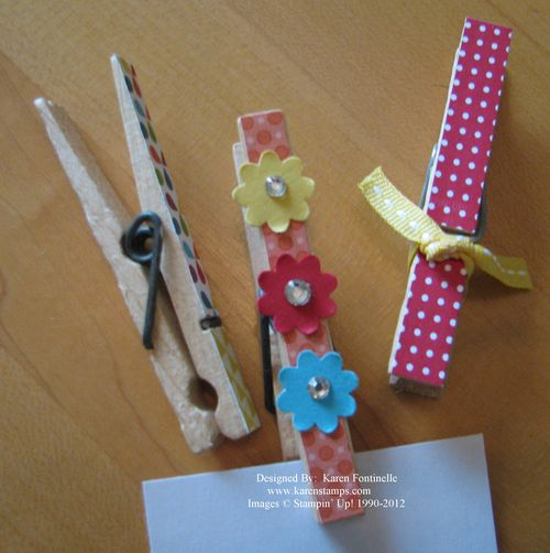 Decorated Clothespins Side