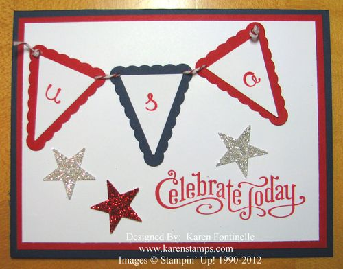 Patriotic 4th of July Card