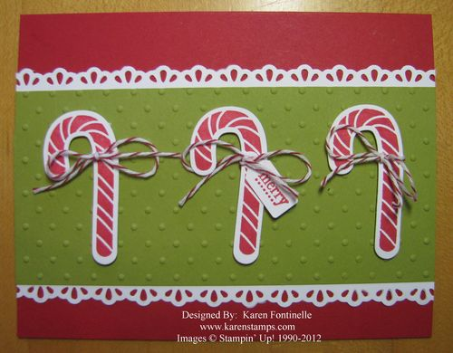 Scentsational Season Candy Canes Christmas Card