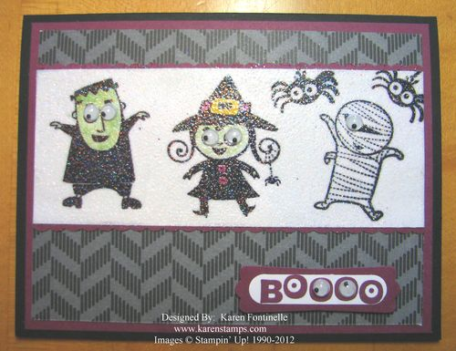 Googly Ghouls Sparkly Halloween Card