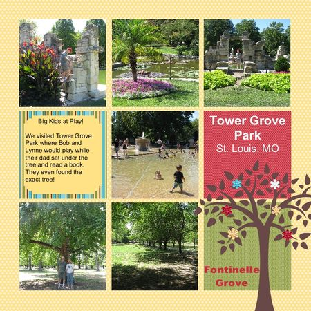 Tower Grove Park 8x8 MDS Scrapbook Page