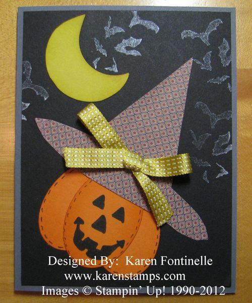 Halloween Pumpkin Card