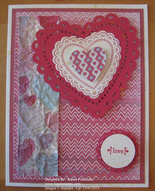 Stampin' Up! Spring Catalog Valentine Card