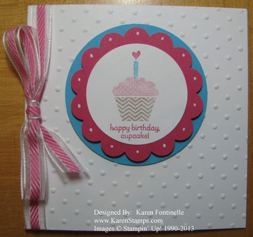 Patterned Occasions Birthday Cupcake Card
