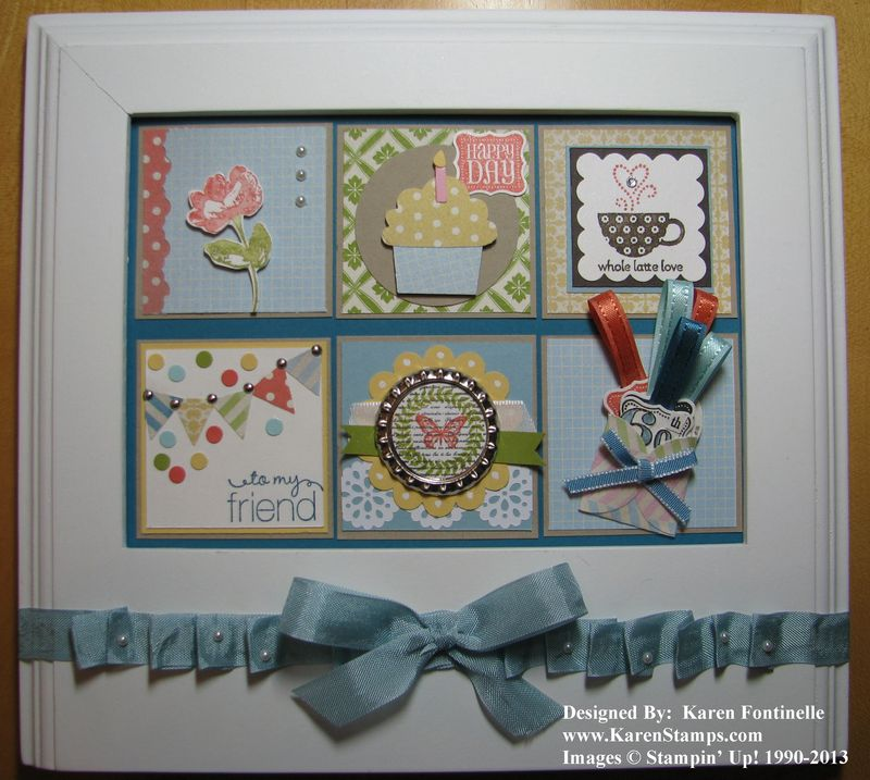 A Framed Birthday Collage for a Friend | Stamping With Karen