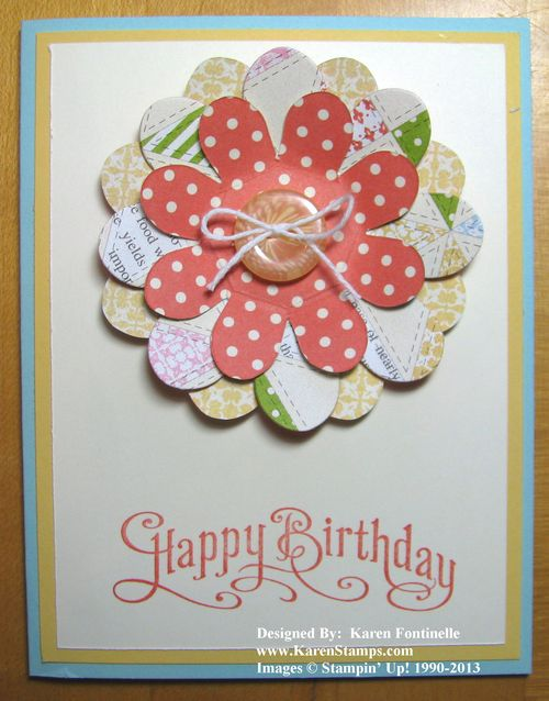 Tea for Two Flower Folds Birthday Card
