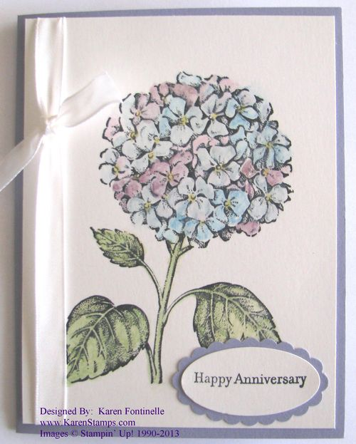Stipple Hydrangea Best of Flowers Stamps for March