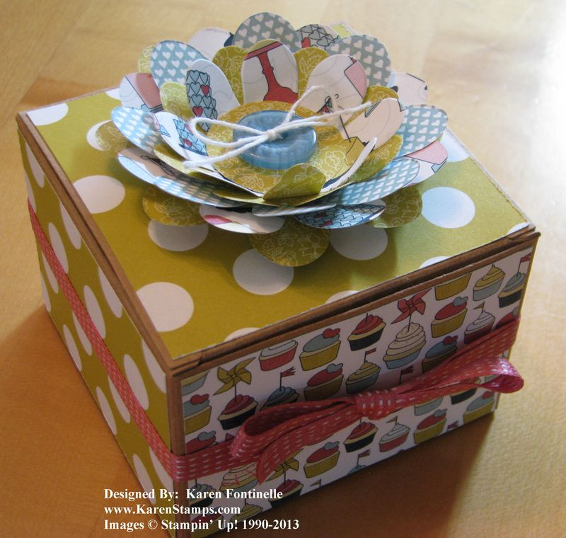 How To Decorate Boxes Interesting Stampin' Up Kraft Gift Box Decorated With Patio Party Paper Decorating Design