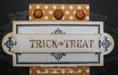 Halloween Layered Labels on Card