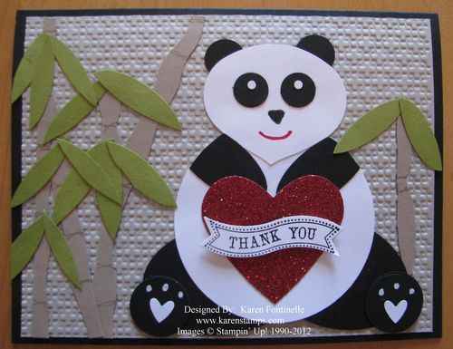 Panda Punch Art Card
