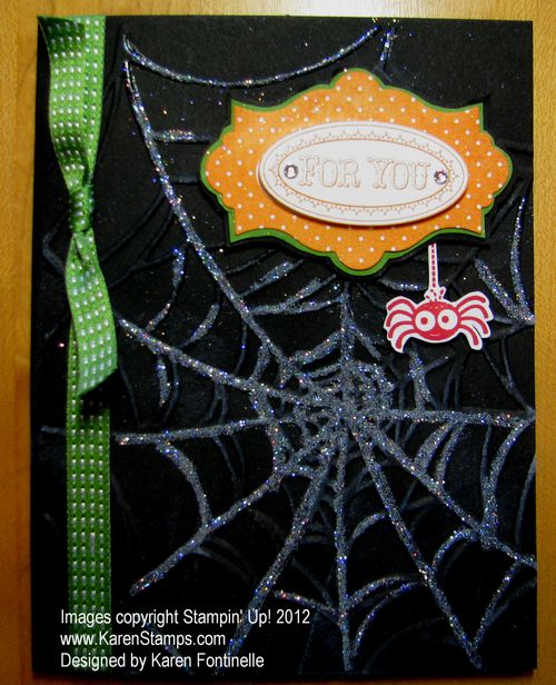 Halloween Card Spider Web