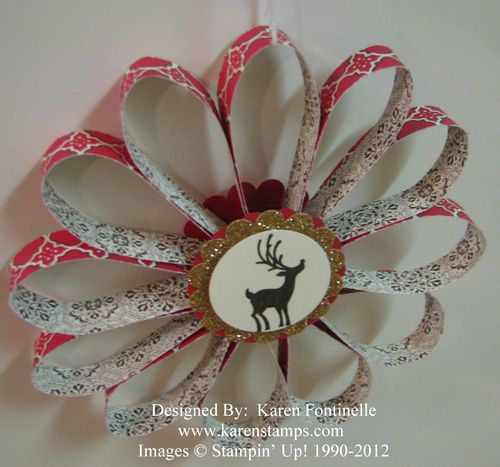Paper Strip Christmas Ornament