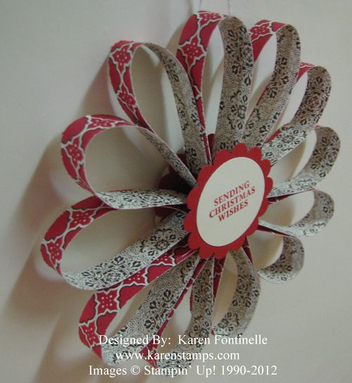 Paper Strip Christmas Ornament Back