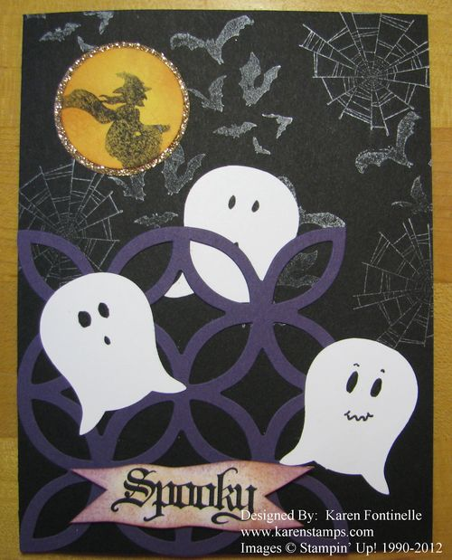 Spooky Owl Punch Ghosts Halloween Card