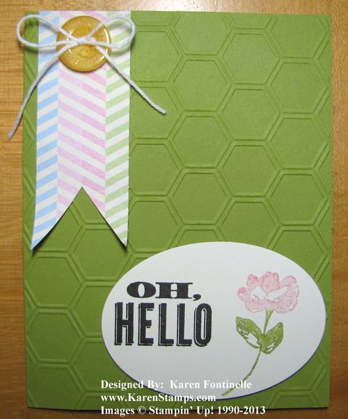 Oh Hello Card for a Friend