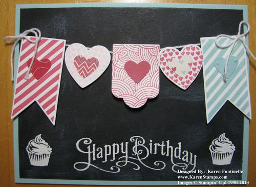 Birthday Card Chalkboard Technique