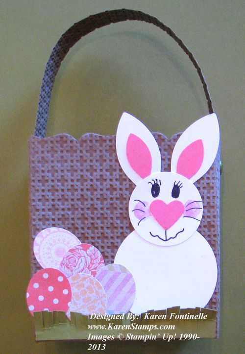Punch Art Easter Bunny Basket