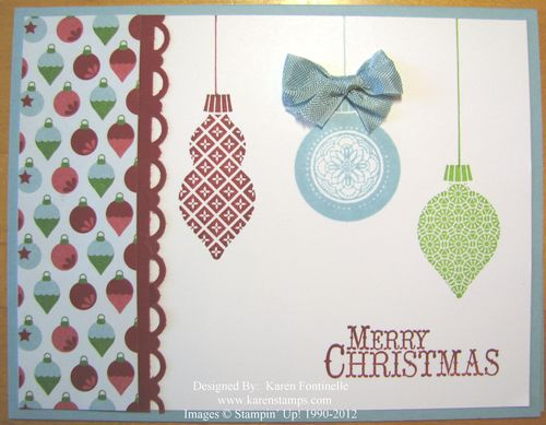 Snow Festival Ornament Christmas Card