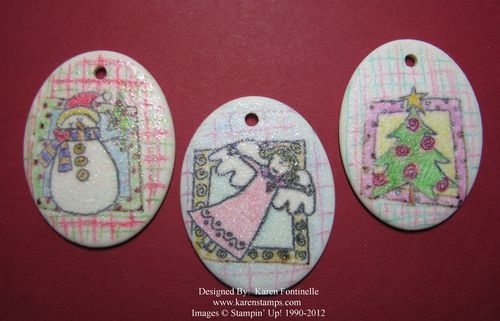 Christmas Porcelain Ornaments