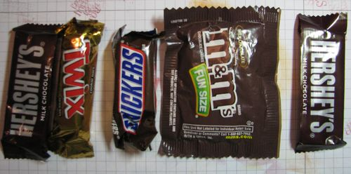 Candy Bars for Halloween