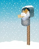 Winter Mail Box