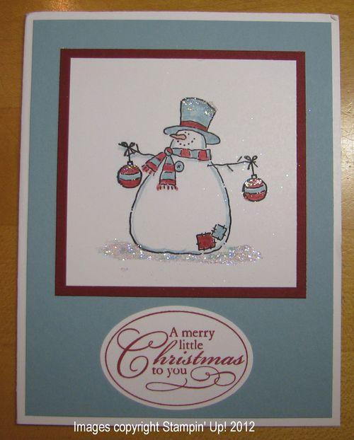 Jan's Stampin' Up! Christmas Card