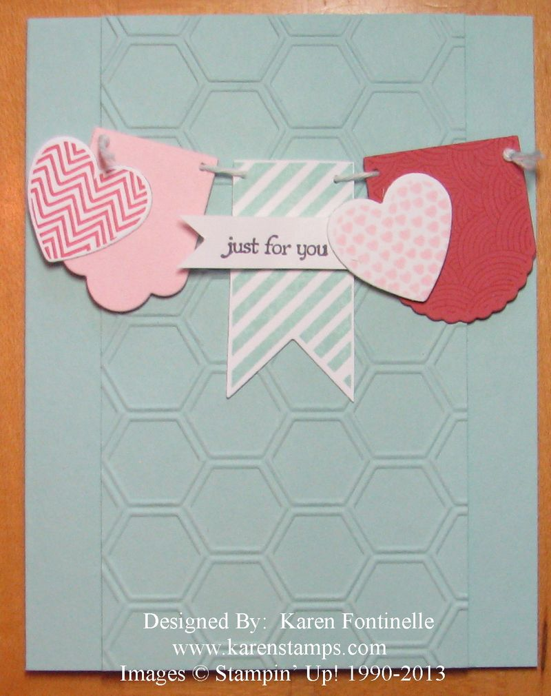 Hearts a Flutter Just for You Card | Stamping With Karen