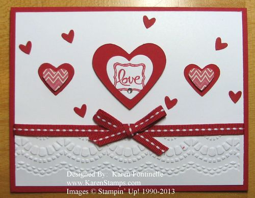 Embossed Valentine Card