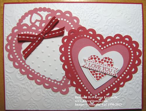 More Amore Laser-cut Hearts Valentine Card