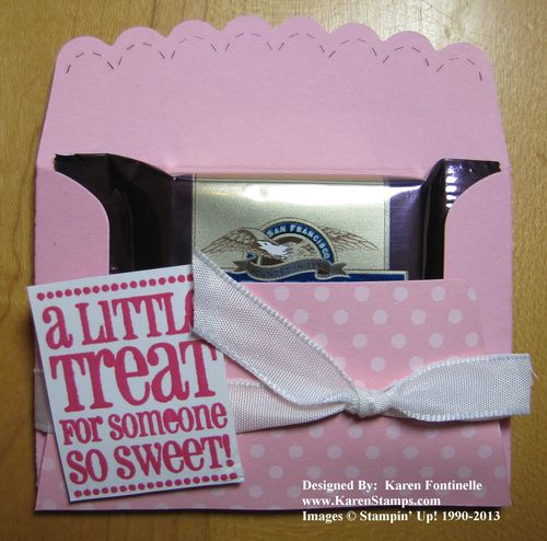 Valentine Scallop Envelope Candy Treat