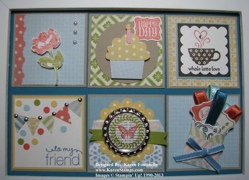 Framed Birthday Collage for a Friend Close-up