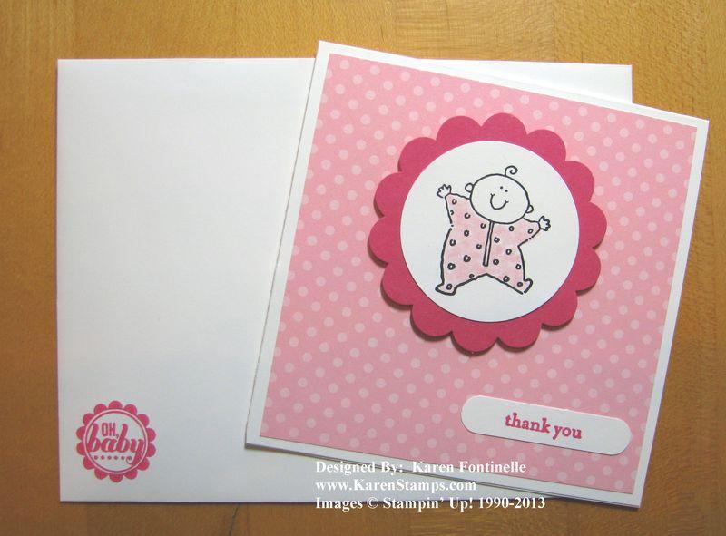 baby shower gifts handmade  stamping with karen