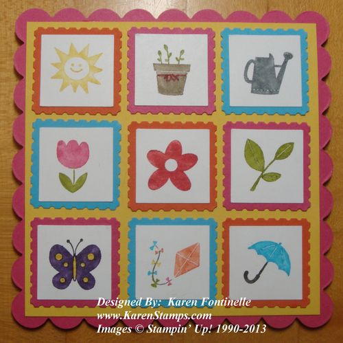 Spring Sampler Scallop Card